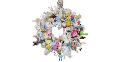 Hippity Hop Hooray, wreath by magpie